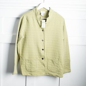 Coldwater Creek NWT Bubble Knit button up size M